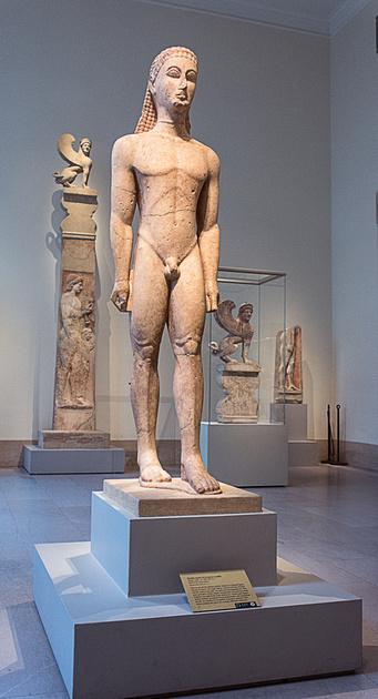 Early Greek Kuros at the Metropolitan Museum of Art