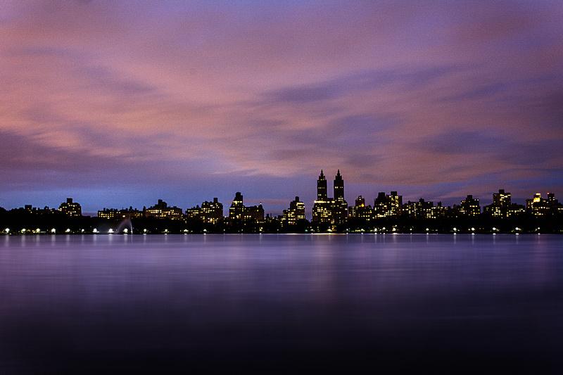 Twilight at Jackie Onassis Reservoir in Central Park