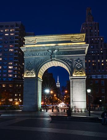 Empire State Building through the Washington Square Arch